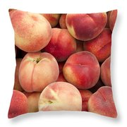 White Peaches Throw Pillow by John Trax
