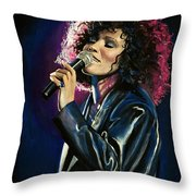 Whitney Houston Throw Pillow by Tom Carlton