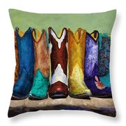 Why Real Men Want To Be Cowboys Throw Pillow by Frances Marino