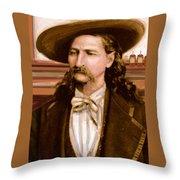 Wild Bill Hickok Throw Pillow by Larry Lamb