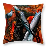 Wild Birds Throw Pillow by Carol Cavalaris