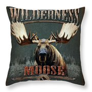 Wilderness Moose Throw Pillow by JQ Licensing