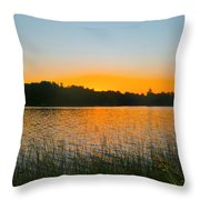 Wilderness Point sunset panorama Throw Pillow by Gary Eason