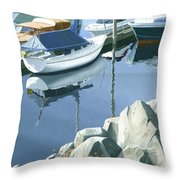 Wildflowers On The Breakwater Throw Pillow by Gary Giacomelli