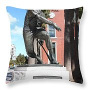 Willie Mays at San Francisco Giants ATT Park . 7D7636 Throw Pillow by Wingsdomain Art and Photography