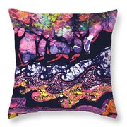 Wind And Waves Throw Pillow by Carol  Law Conklin
