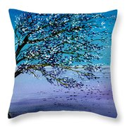 Windblown Throw Pillow by Brenda Owen