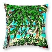 Window Loving Fern Throw Pillow by Al Goldfarb