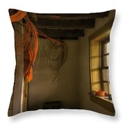 Window On A Rainy Day Throw Pillow by Lois Bryan