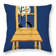 Window Seat Throw Pillow by Laura Brightwood