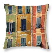 Windows Of Portofino Throw Pillow by Joana Kruse