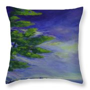 Windy Lake Superior Throw Pillow by Joanne Smoley