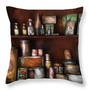 Wine - Rum and Tobacco Throw Pillow by Mike Savad