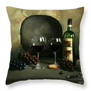 Wine For Two Throw Pillow by Paul Walsh