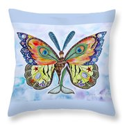 Winged Metamorphosis Throw Pillow by Lucy Arnold