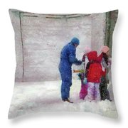 Winter - Re-constructive Surgery Throw Pillow by Mike Savad