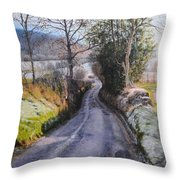 Winter in North Wales Throw Pillow by Harry Robertson