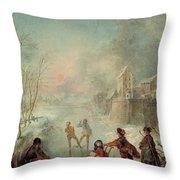 Winter Throw Pillow by Jacques de Lajoue