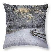 Winter Sunrise Throw Pillow by Sebastian Musial
