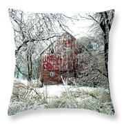 Winter Wonderland Throw Pillow by Julie Hamilton