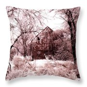 Winter Wonderland Pink Throw Pillow by Julie Hamilton