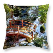 Winter's Goodbye Throw Pillow by Karen Wiles