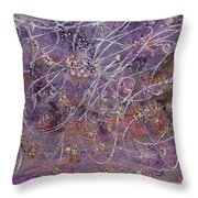 Wisteria Painting Throw Pillow by Don  Wright