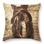 Without Horse Throw Pillow by Wim Lanclus