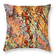 Wood And Rust Throw Pillow by Carol Groenen