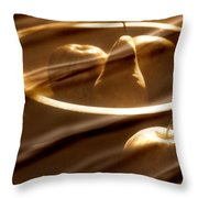 Wooden Bowl With Fruit Throw Pillow by Toni Hopper