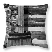 Wooden Water Barrel Throw Pillow by Douglas Barnett