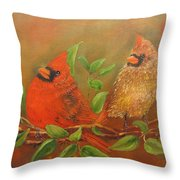 Woodland Royalty Throw Pillow by Loretta Luglio