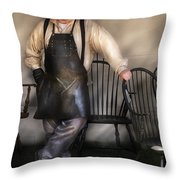Woodworker - The Chair Maker  Throw Pillow by Mike Savad