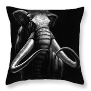 Woolly Mammoth Throw Pillow by Stanley Morrison