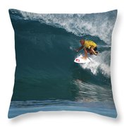 World Champion In Action Throw Pillow by Kevin Smith