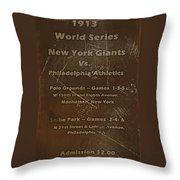 World Series 1913 Throw Pillow by David Dehner