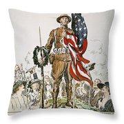 World War I: U.s. Army Throw Pillow by Granger