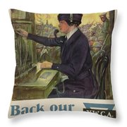 World War I Ywca Poster Throw Pillow by Clarence F Underwood