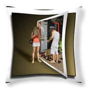 Worlds Apart Throw Pillow by Brian Wallace