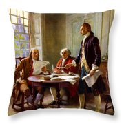 Writing The Declaration Of Independence Throw Pillow by War Is Hell Store