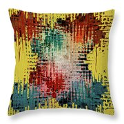 X Marks the Spot Throw Pillow by Bonnie Bruno