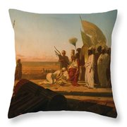 Xerxes at the Hellespont Throw Pillow by Jean Adrien Guignet