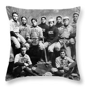 Yale Baseball Team, 1901 Throw Pillow by Granger