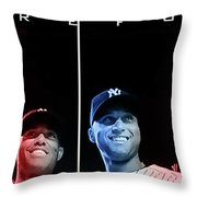 Yankee Core Four by GBS Throw Pillow by Anibal Diaz