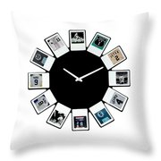 yankees Clock Throw Pillow by Paul Van Scott
