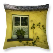 Yellow House County Clare Ireland Throw Pillow by Teresa Mucha