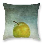 Yellow Plum Throw Pillow by Bernard Jaubert