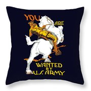 You Are Wanted By Us Army Throw Pillow by War Is Hell Store