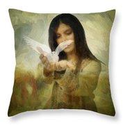 You Bird Of Freedom And Peace Throw Pillow by Gun Legler