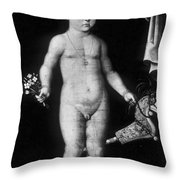 Young Felix Plater, Swiss Physician Throw Pillow by Science Source